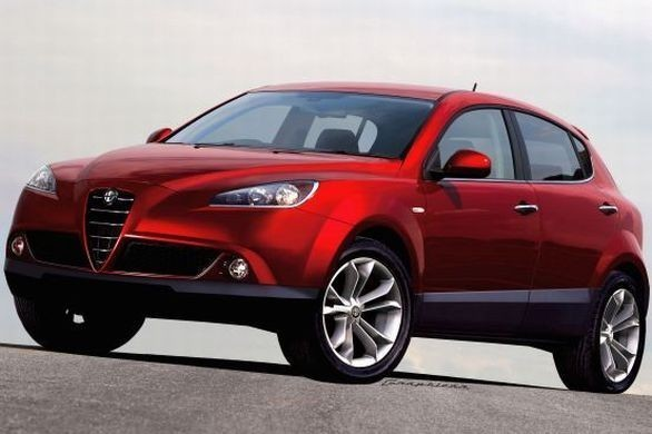alfa romeo suv in red