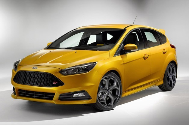 yellow ford focus front exterior