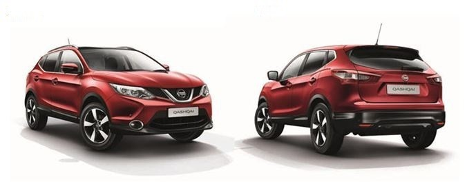 Nissan Qashqai front and back