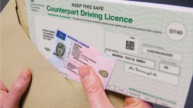 Counterpart driving licence